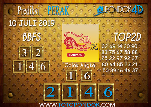 Prediksi Togel PERAK PONDOK4D 10 JULI 2019