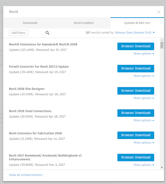 Revit 2018 Extensions Available!