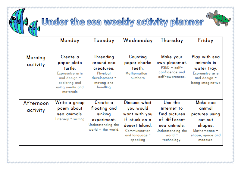 early years lesson plan template - eyfs