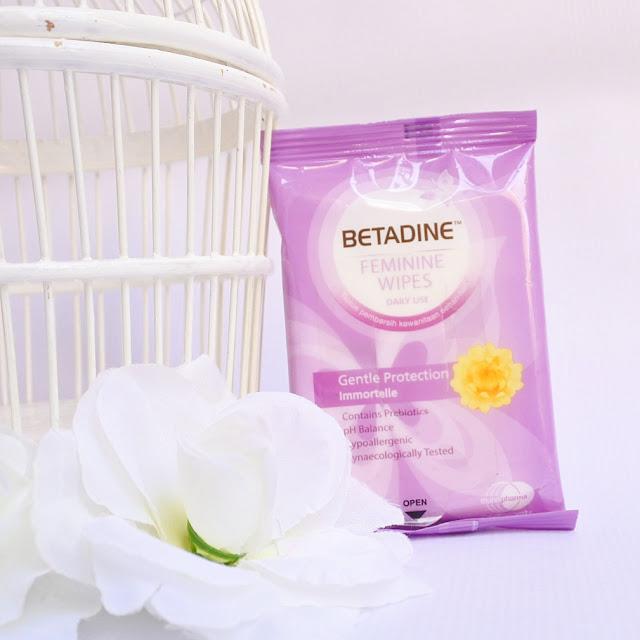 Tekstur dari BETADINE Feminine Wipes