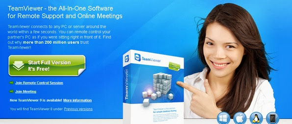 TeamViewer screen sharing application