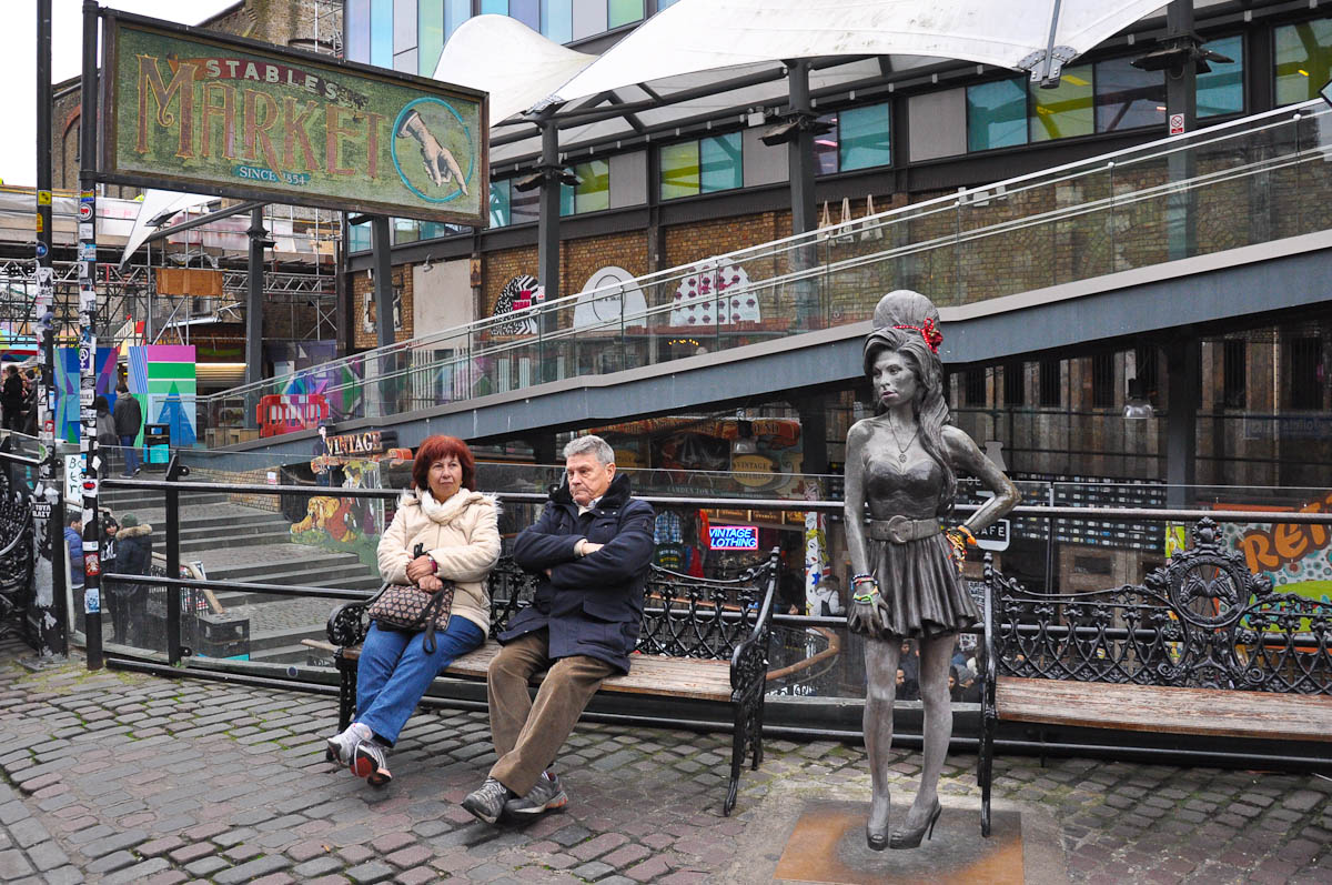 Amy Winehouse Statue, Stables Market, Camden Town, London, England