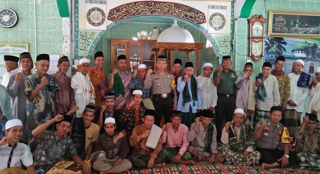 Demi Harkamtibmas Kapolsek Tebo Tengah Gelar Jumling Di Masjid Tengah Ulu
