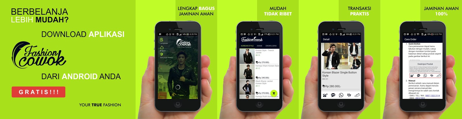 Fashion Cowok app android google-play