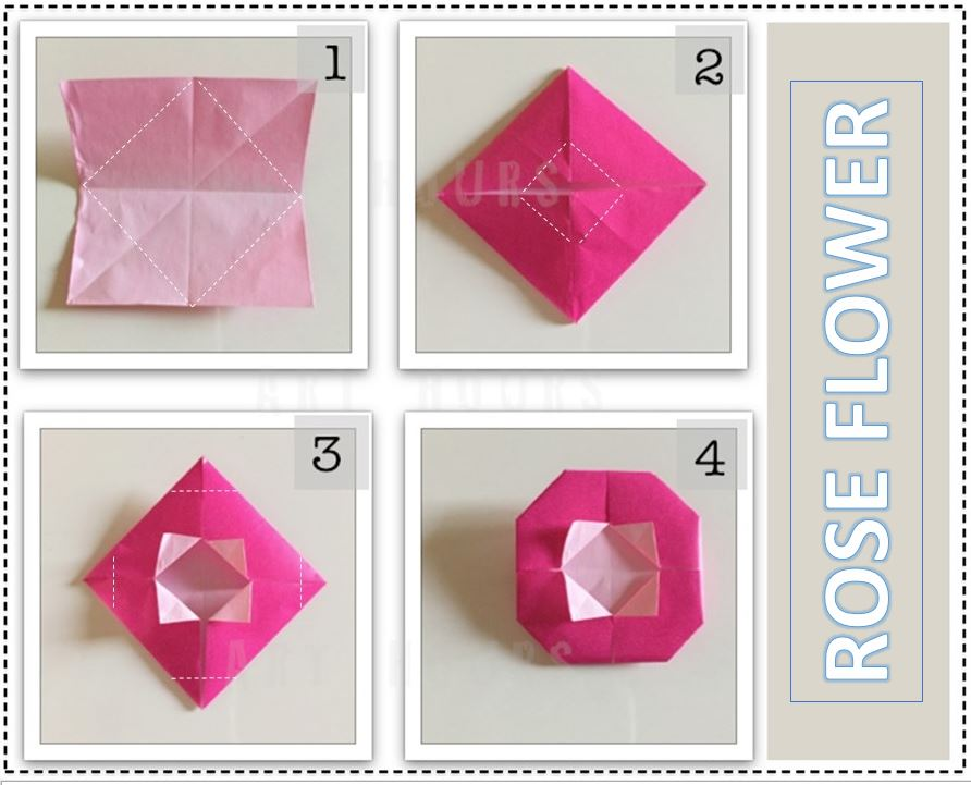How to Fold : Origami Flower | Do It Yourself - YouTube | 721x892