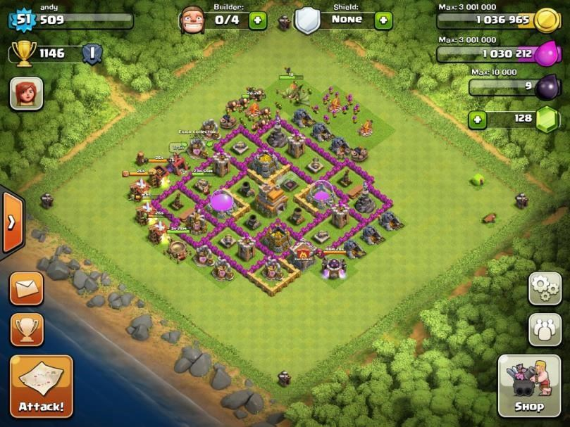 clash of clans 7 town hall defence