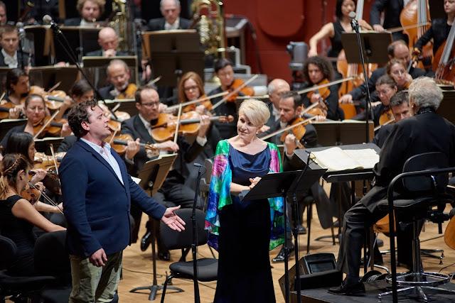 Berlioz: La damnation de Faust in rehearsal- Michael Spyres, Joyce DiDonato, John Nelson - Orchestre Philharmonique de Strasbourg (Photo Gregory Massat)