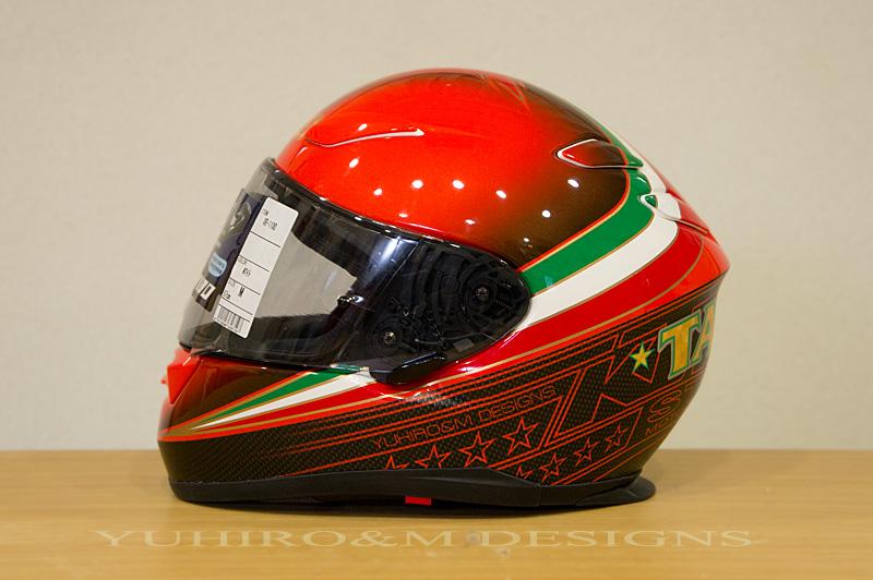 racing helmets garage shoei xr 1100 1 by yuhiro m designs. Black Bedroom Furniture Sets. Home Design Ideas