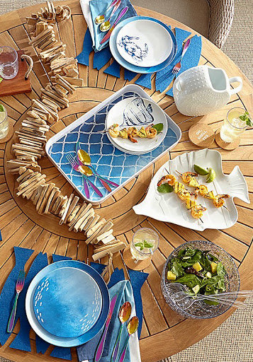 Coastal Blue Fish Dinnerware