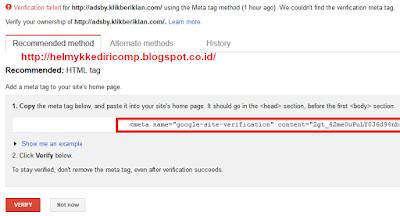 Memperbaiki Sumber Daya diBlokir pada Webmaster