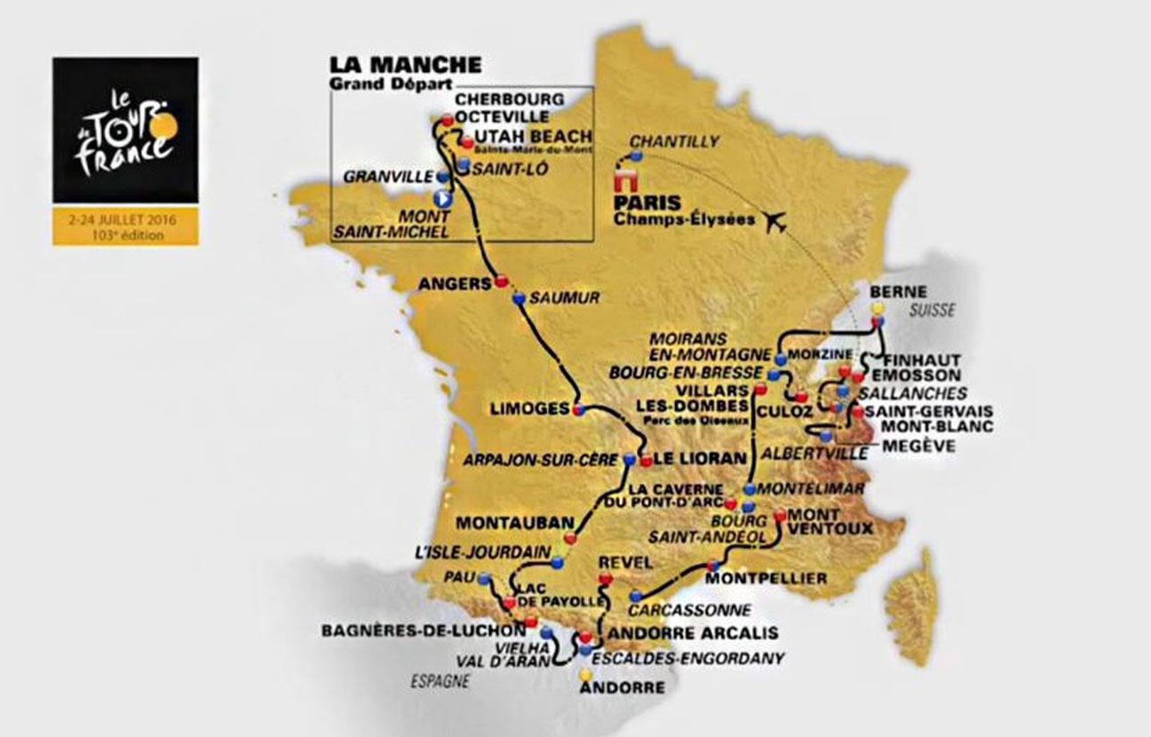 Tour de France 2017 voici le calendrier programme et parcours des
