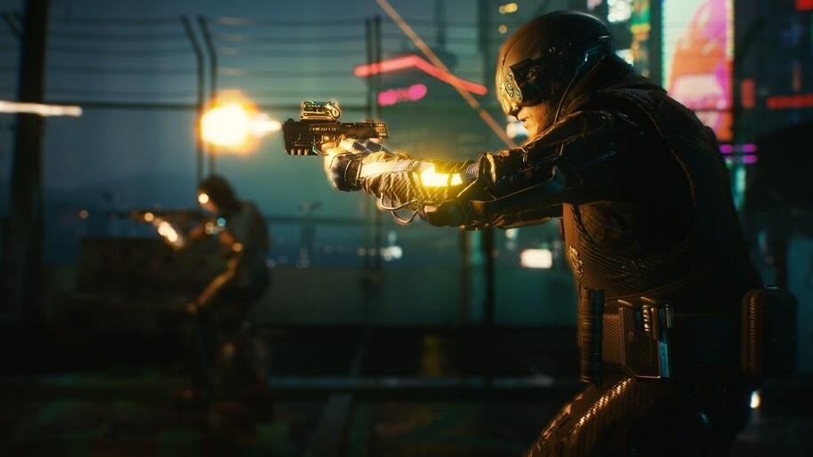 Cyberpunk 2077, Gun, Shoot, 4K, #3.2269