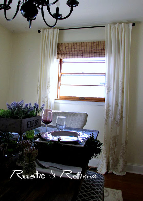 Dining Room Update - New curtains
