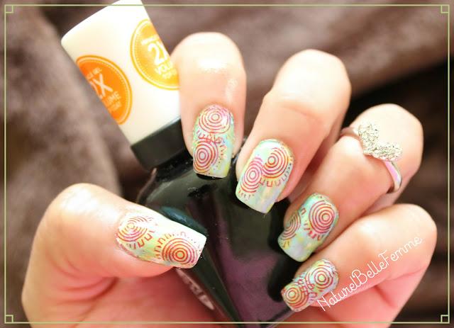Smooshy sunday manicure