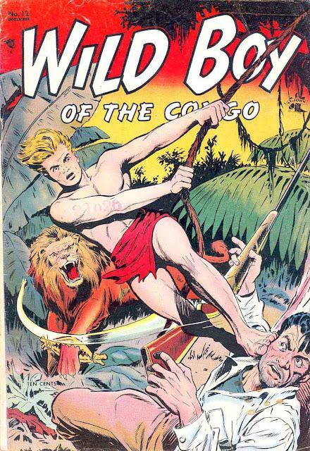 Wild Boy of the Congo v1 #12 - Matt Baker st john golden age comic book cover art