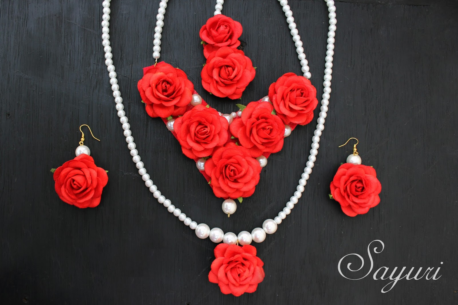 Flower jewelry collection