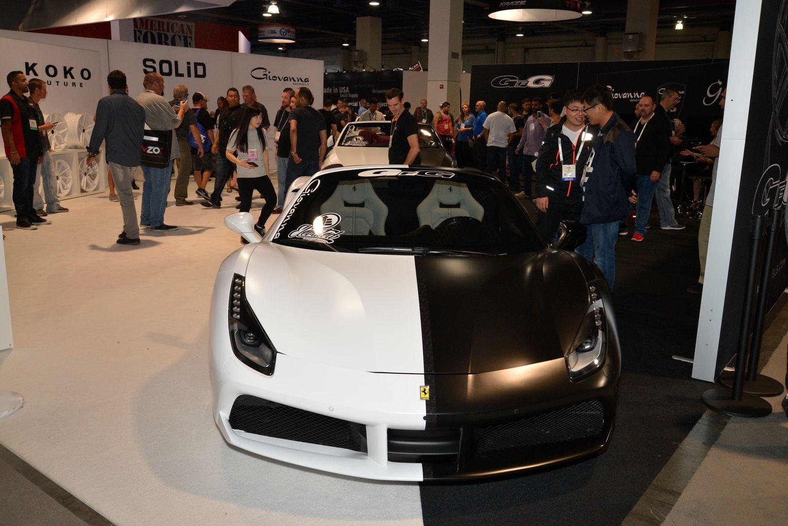 Giovanni Wheels Brings White And Black Ferrari Rolls And