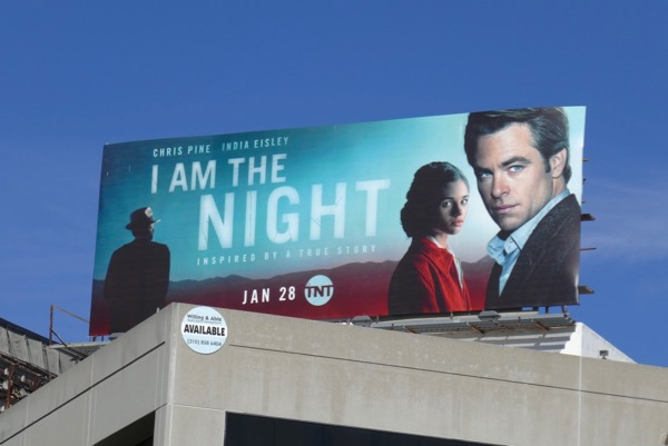 I Am the Night miniseries billboard