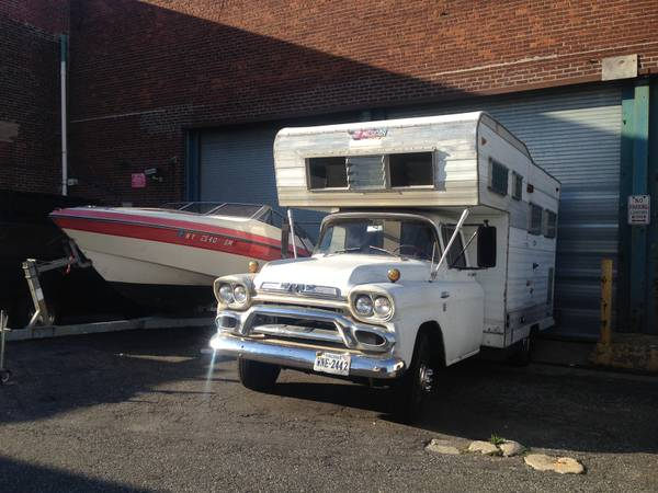 Rare 1958 GMC Factory Camper for Sale
