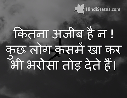How Strange Hindi Status The Best Place For Hindi Quotes And Status