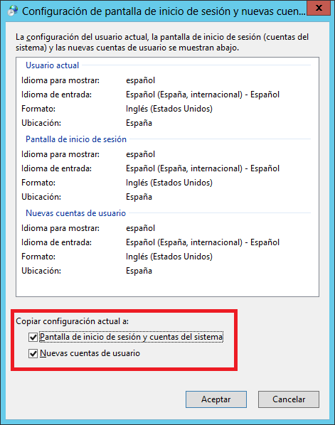 Windows: Cambiar formato fecha al inglés