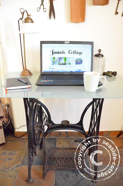 seaside cottage mein neuer blogger arbeitsplatz. Black Bedroom Furniture Sets. Home Design Ideas