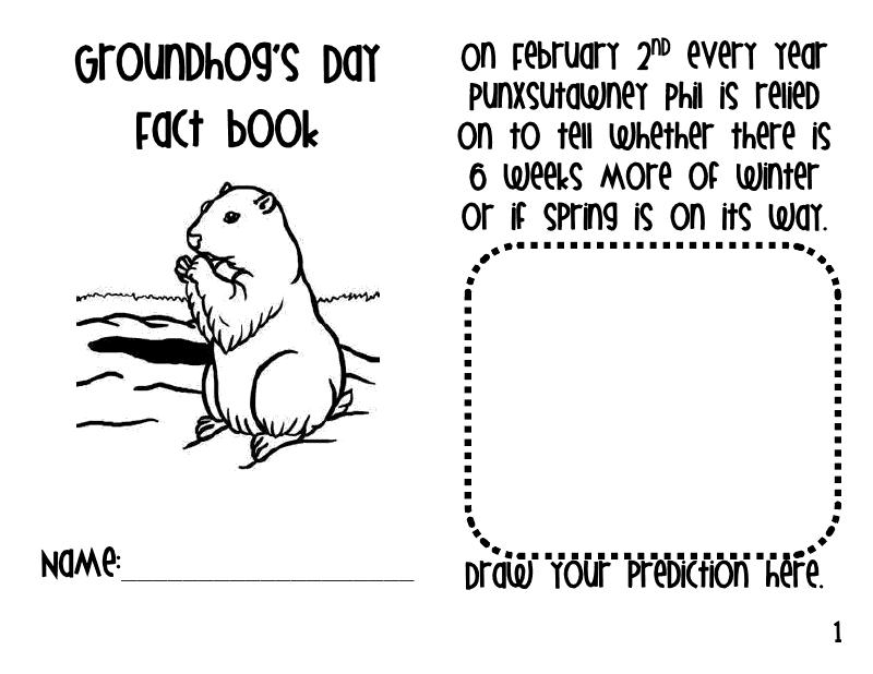 The Go To Teacher: Groundhog Day Fact Book