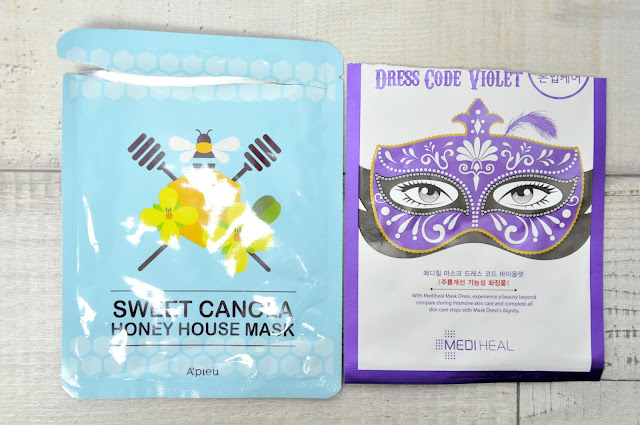 maska w płachcie mediheal dress code violet i a'pieu sweet canola honey house mask
