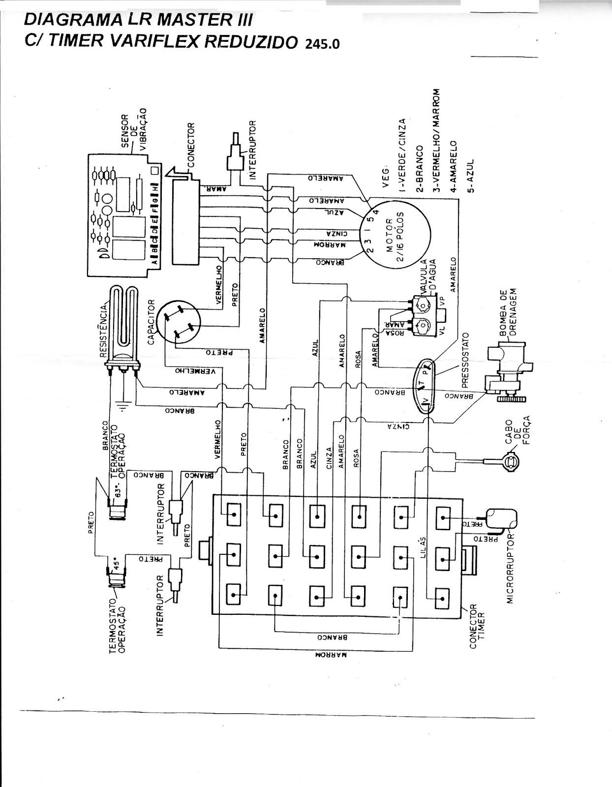 Consertando Minha Maquina De Lavar Diagrama Eletrico Lr