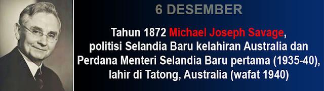 Hari kelahiran Michael Joseph Savage