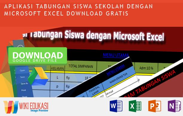 Aplikasi Tabungan Siswa Sekolah dengan Microsoft Excel Download Gratis