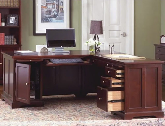 best buy wooden home office desk with keyboard drawer and storage ideas