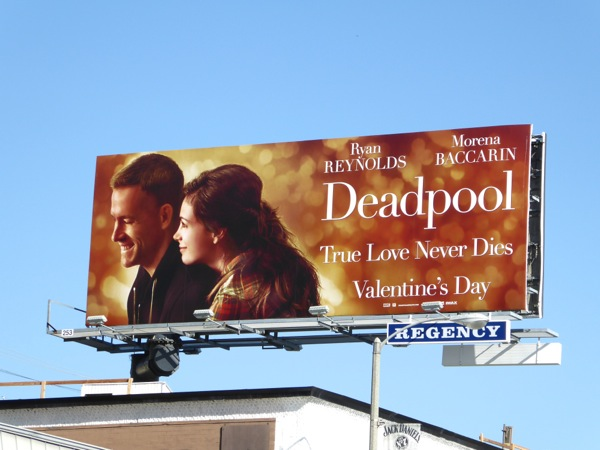 Deadpool Valentine's Day spoof billboard
