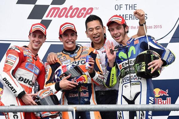 Podium MotoGP Amerika 2015