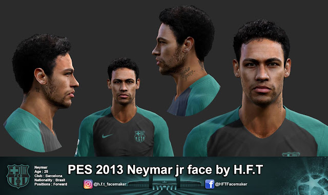 PES 2013 Neymar jr face by H.F.T
