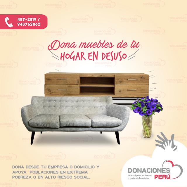 Dona muebles de hogar - recicla muebles - dona y recicla - recicla y dona - donaciones peru