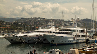 Luxury yachts in the harbour at San Remo