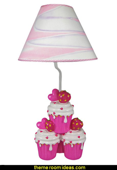 Strawberry Cupcake Table Lamp