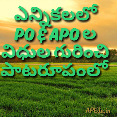 What are the rules and regulations of PO,& APO in Election with paradi song