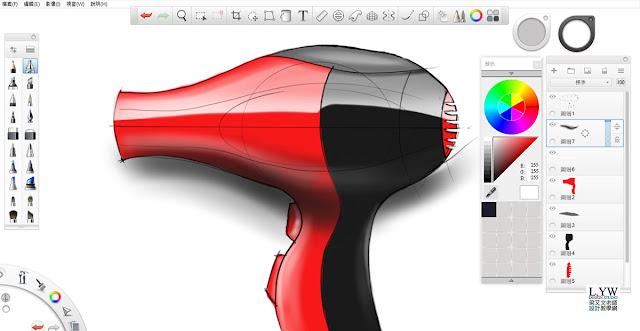 Sketchbook Pro 快速設計表現技法教學9