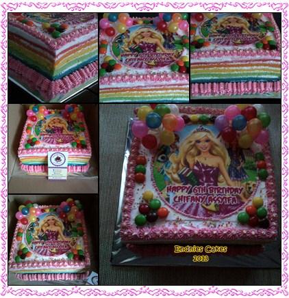 Endnies Cakes Snack N Cookies Barbie Princess Rainbow