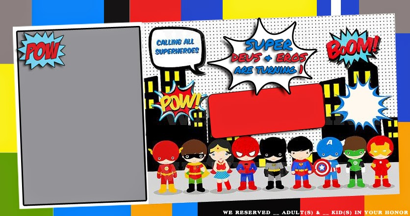 superhero invitation