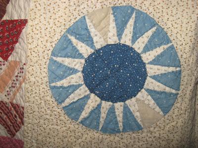 vintage sunburst quilt block