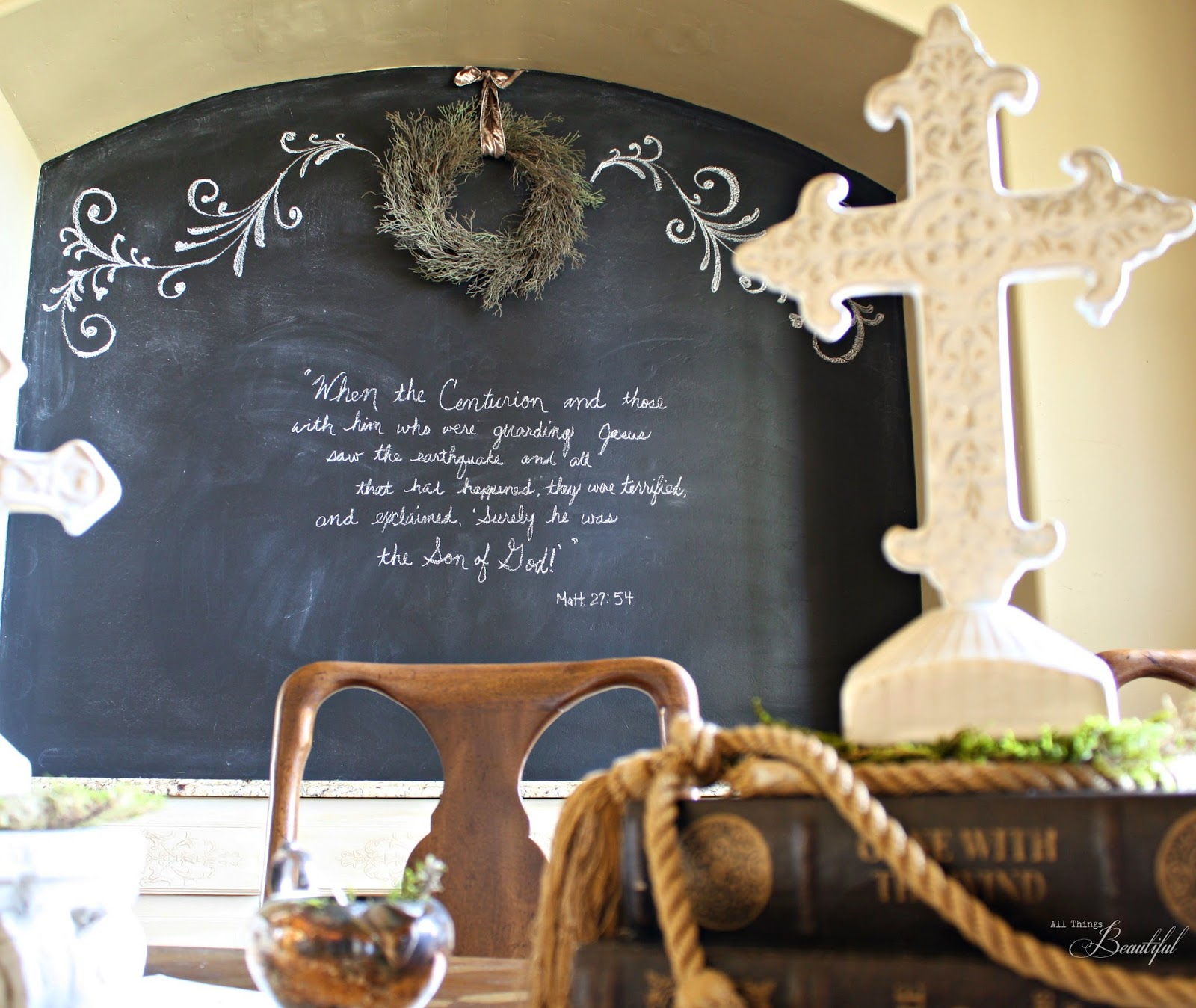 All Things Beautiful: Easter {Chalkboard} Dining Room