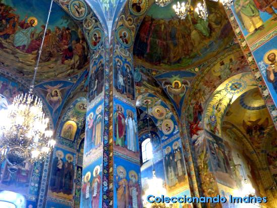 Interior de San Salvador sobre la sangre derramada, San Petersburgo