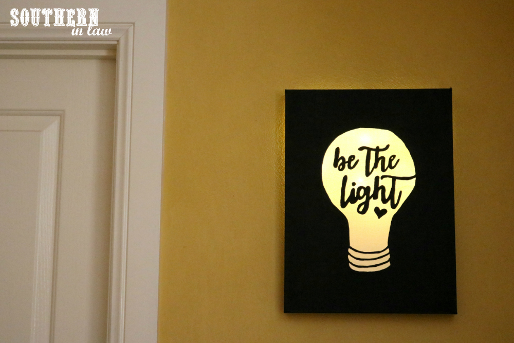 Southern In Law: DIY: Easy Canvas Light Box Tutorial (Made for Under ...
