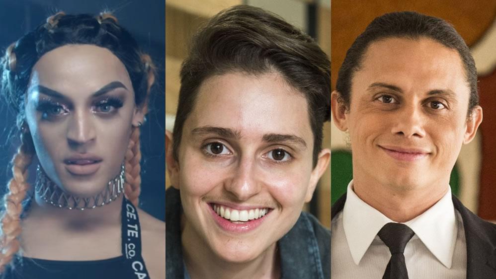 Pabllo Vittar, Silvero Pereira e Carol Duarte estão concorrendo ao 'Troféu Domingão 2017'