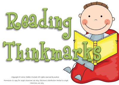 Reading Thinkmarks, a super easy way for students to show their thinking as they read,