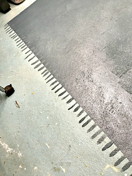 painting on cement floors