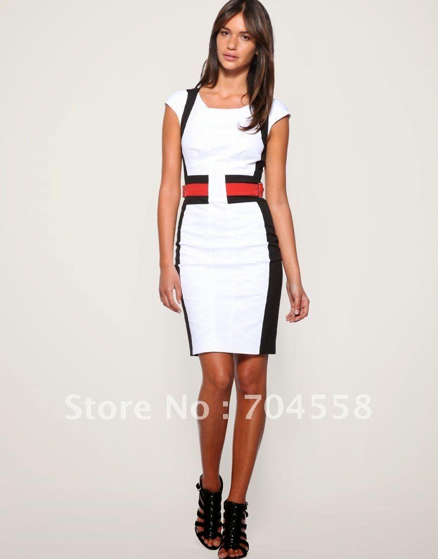 b8129008bf5fb Vestidos formales para la oficina tendencias vestidos jpg 870x1110 Vestidos  formales para oficina